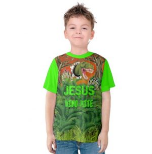 Kids Jesus is Dino-Mite t-shirt made of 90% cotton. Tammy's Scripture Wear Clothing Line is your source for beautiful, wearable clothes with biblical verses such as Armor of God.